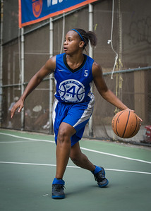 """Bianca Brown West 4th Street Women's Pro Classic NYC: Primetime (Blue) 81 v Brooklyn Express (Burgundy) 64, """"The Cage"""", New York, NY, August 12, 2012"""