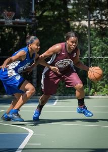 "Cigi McCollin, Bianca Brown West 4th Street Women's Pro Classic NYC: Primetime (Blue) 81 v Brooklyn Express (Burgundy) 64, ""The Cage"", New York, NY, August 12, 2012"
