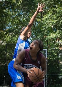 "Cigi McCollin, Shamika Stevens West 4th Street Women's Pro Classic NYC: Primetime (Blue) 81 v Brooklyn Express (Burgundy) 64, ""The Cage"", New York, NY, August 12, 2012"