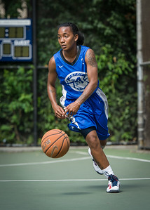 """Renee Taylor West 4th Street Women's Pro Classic NYC: Primetime (Blue) 81 v Brooklyn Express (Burgundy) 64, """"The Cage"""", New York, NY, August 12, 2012"""
