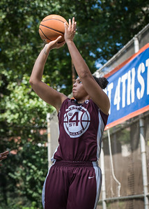 """Jessica Fairweather West 4th Street Women's Pro Classic NYC: Primetime (Blue) 81 v Brooklyn Express (Burgundy) 64, """"The Cage"""", New York, NY, August 12, 2012"""