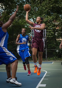 """Jessica Fairweather, Sharlenia Charles West 4th Street Women's Pro Classic NYC: Primetime (Blue) 81 v Brooklyn Express (Burgundy) 64, """"The Cage"""", New York, NY, August 12, 2012"""