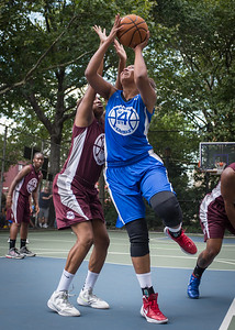 """Miriam Seale West 4th Street Women's Pro Classic NYC: Primetime (Blue) 81 v Brooklyn Express (Burgundy) 64, """"The Cage"""", New York, NY, August 12, 2012"""