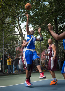 """Sharlenia Charles West 4th Street Women's Pro Classic NYC: Primetime (Blue) 81 v Brooklyn Express (Burgundy) 64, """"The Cage"""", New York, NY, August 12, 2012"""