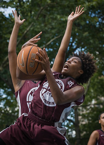 """Tania Greenleaf West 4th Street Women's Pro Classic NYC: Primetime (Blue) 81 v Brooklyn Express (Burgundy) 64, """"The Cage"""", New York, NY, August 12, 2012"""
