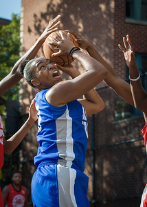 Nubia Hayes West 4th Street Women's Pro Classic NYC: Big East Ballers (Red) 95 v Lady Soldiers (Blue) 62, William F. Passannante Ballfield, New York, NY, August 12, 2012.