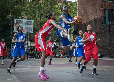 Alicia Cropper, Shenneika Smith West 4th Street Women's Pro Classic NYC: Big East Ballers (Red) 95 v Lady Soldiers (Blue) 62, William F. Passannante Ballfield, New York, NY, August 12, 2012.