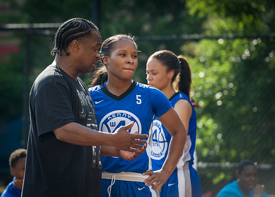 Desiree Simmons West 4th Street Women's Pro Classic NYC: Big East Ballers (Red) 95 v Lady Soldiers (Blue) 62, William F. Passannante Ballfield, New York, NY, August 12, 2012.
