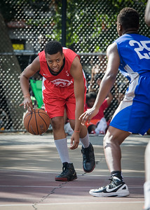 Nicole Rhem West 4th Street Women's Pro Classic NYC: Big East Ballers (Red) 95 v Lady Soldiers (Blue) 62, William F. Passannante Ballfield, New York, NY, August 12, 2012.