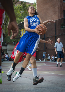 Sade Jackson West 4th Street Women's Pro Classic NYC: Big East Ballers (Red) 95 v Lady Soldiers (Blue) 62, William F. Passannante Ballfield, New York, NY, August 12, 2012.