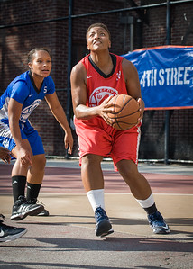 Tasha Cannon West 4th Street Women's Pro Classic NYC: Big East Ballers (Red) 95 v Lady Soldiers (Blue) 62, William F. Passannante Ballfield, New York, NY, August 12, 2012.