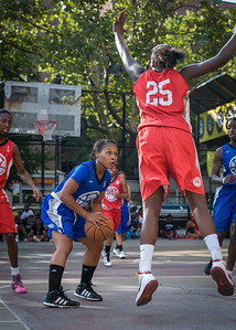 Desiree Simmons, Michelle Campbell West 4th Street Women's Pro Classic NYC: Big East Ballers (Red) 95 v Lady Soldiers (Blue) 62, William F. Passannante Ballfield, New York, NY, August 12, 2012.