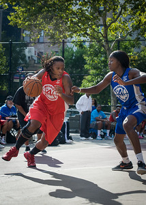 Kellindra Zackery, Terry Green West 4th Street Women's Pro Classic NYC: Big East Ballers (Red) 95 v Lady Soldiers (Blue) 62, William F. Passannante Ballfield, New York, NY, August 12, 2012.