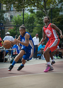 Marika Sprow, Shenneika Smith West 4th Street Women's Pro Classic NYC: Big East Ballers (Red) 95 v Lady Soldiers (Blue) 62, William F. Passannante Ballfield, New York, NY, August 12, 2012.