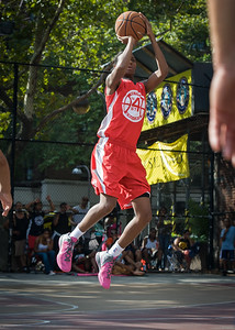 Shenneika Smith West 4th Street Women's Pro Classic NYC: Big East Ballers (Red) 95 v Lady Soldiers (Blue) 62, William F. Passannante Ballfield, New York, NY, August 12, 2012.