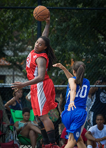 Kellindra Zackery West 4th Street Women's Pro Classic NYC: Big East Ballers (Red) 95 v Lady Soldiers (Blue) 62, William F. Passannante Ballfield, New York, NY, August 12, 2012.