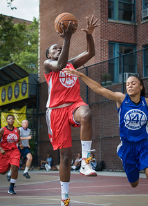 Michelle Campbell, Sade Jackson West 4th Street Women's Pro Classic NYC: Big East Ballers (Red) 95 v Lady Soldiers (Blue) 62, William F. Passannante Ballfield, New York, NY, August 12, 2012.
