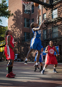 Terry Green West 4th Street Women's Pro Classic NYC: Big East Ballers (Red) 95 v Lady Soldiers (Blue) 62, William F. Passannante Ballfield, New York, NY, August 12, 2012.