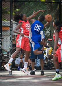 Alicia Cropper, Michelle Campbell West 4th Street Women's Pro Classic NYC: Big East Ballers (Red) 95 v Lady Soldiers (Blue) 62, William F. Passannante Ballfield, New York, NY, August 12, 2012.
