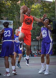 Shantale Bramble, Jewel Adams West 4th Street Women's Pro Classic NYC: Run N Shoot (Purple) 86 v Deuce Trey (Orange) 68, William F. Passannante Ballfield, New York, NY, August 12, 2012.