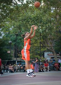 Shantale Bramble West 4th Street Women's Pro Classic NYC: Run N Shoot (Purple) 86 v Deuce Trey (Orange) 68, William F. Passannante Ballfield, New York, NY, August 12, 2012.