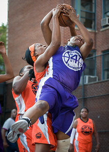 Dawn Coleman, Ayesha Barkley West 4th Street Women's Pro Classic NYC: Run N Shoot (Purple) 86 v Deuce Trey (Orange) 68, William F. Passannante Ballfield, New York, NY, August 12, 2012.
