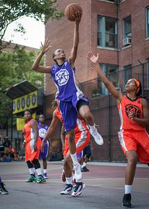 Jewel Adams, Ayesha Barkley West 4th Street Women's Pro Classic NYC: Run N Shoot (Purple) 86 v Deuce Trey (Orange) 68, William F. Passannante Ballfield, New York, NY, August 12, 2012.