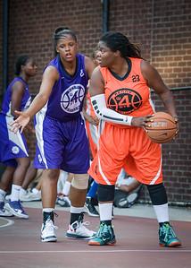 Lawanda Greene, Dawn Coleman West 4th Street Women's Pro Classic NYC: Run N Shoot (Purple) 86 v Deuce Trey (Orange) 68, William F. Passannante Ballfield, New York, NY, August 12, 2012.