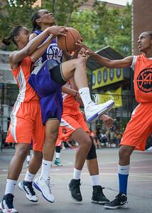 Jewel Adams West 4th Street Women's Pro Classic NYC: Run N Shoot (Purple) 86 v Deuce Trey (Orange) 68, William F. Passannante Ballfield, New York, NY, August 12, 2012.