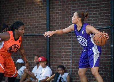 Thanzina Cook, Lawanda Greene West 4th Street Women's Pro Classic NYC: Run N Shoot (Purple) 86 v Deuce Trey (Orange) 68, William F. Passannante Ballfield, New York, NY, August 12, 2012.