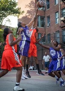 Lateefah Joye, Jewel Adams West 4th Street Women's Pro Classic NYC: Run N Shoot (Purple) 86 v Deuce Trey (Orange) 68, William F. Passannante Ballfield, New York, NY, August 12, 2012.