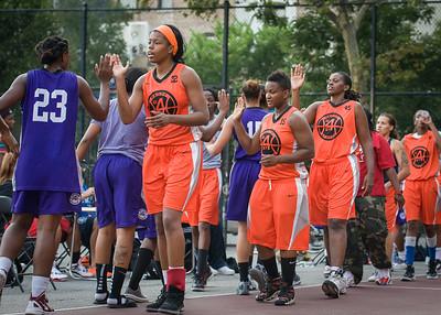 West 4th Street Women's Pro Classic NYC: Run N Shoot (Purple) 86 v Deuce Trey (Orange) 68, William F. Passannante Ballfield, New York, NY, August 12, 2012.