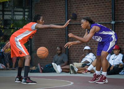 Stephany Neptune, Lateefah Joye West 4th Street Women's Pro Classic NYC: Run N Shoot (Purple) 86 v Deuce Trey (Orange) 68, William F. Passannante Ballfield, New York, NY, August 12, 2012.
