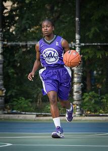 "Ashley Clarke West 4th Street Women's Pro Classic NYC: SEMIS-Primetime (Blue) 79 v Run N Shoot (Purple) 69, ""The Cage"", New York, NY, August 18, 2012"