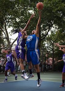 "Dana Wynne, Dawn Coleman West 4th Street Women's Pro Classic NYC: SEMIS-Primetime (Blue) 79 v Run N Shoot (Purple) 69, ""The Cage"", New York, NY, August 18, 2012"