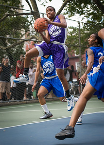 """Toni-Ann Lawrence West 4th Street Women's Pro Classic NYC: SEMIS-Primetime (Blue) 79 v Run N Shoot (Purple) 69, """"The Cage"""", New York, NY, August 18, 2012"""