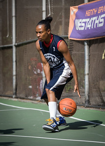 """Nastassia Boucicault West 4th Street Women's Pro Classic NYC: Semifinal 2: Big East Ballers (Red) 84 v No Limit (Navy) 80, """"The Cage"""", New York, NY, August 18, 2012"""
