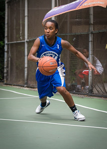 """Renee Taylor West 4th Street Women's Pro Classic NYC: Championship Game: Big East Ballers (Red) 80 v Primetime (Blue) 76 , """"The Cage"""", New York, NY, August 19, 2012"""