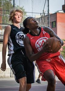 Michelle Campbell, Amanda Buraskowski West 4th Street Women's Pro Classic NYC: Big East Ballers (Red) 77 v Down The Hatch (Black) 61, William F. Passannante Ballfield, New York, NY, July 7, 2012