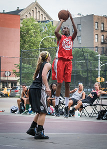 Shenneika Smith, Candice Bellochio West 4th Street Women's Pro Classic NYC: Big East Ballers (Red) 77 v Down The Hatch (Black) 61, William F. Passannante Ballfield, New York, NY, July 7, 2012