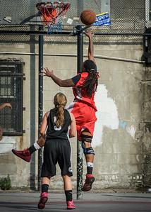 Kellindra Zackery, Christine Harnischfeger West 4th Street Women's Pro Classic NYC: Big East Ballers (Red) 77 v Down The Hatch (Black) 61, William F. Passannante Ballfield, New York, NY, July 7, 2012