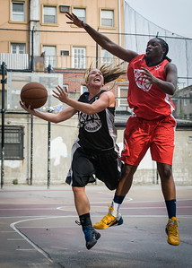 Candice Bellochio, Korinne Campbell West 4th Street Women's Pro Classic NYC: Big East Ballers (Red) 77 v Down The Hatch (Black) 61, William F. Passannante Ballfield, New York, NY, July 7, 2012