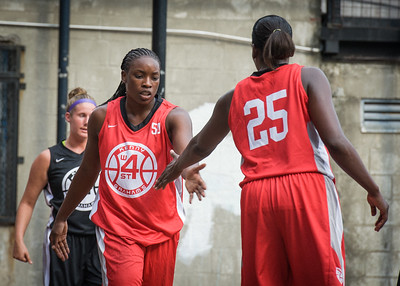 Korinne & Michelle Campbell West 4th Street Women's Pro Classic NYC: Big East Ballers (Red) 77 v Down The Hatch (Black) 61, William F. Passannante Ballfield, New York, NY, July 7, 2012