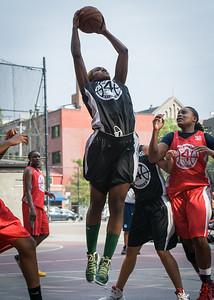 Nijah LaCourt, Kellindra Zackery West 4th Street Women's Pro Classic NYC: Big East Ballers (Red) 77 v Down The Hatch (Black) 61, William F. Passannante Ballfield, New York, NY, July 7, 2012