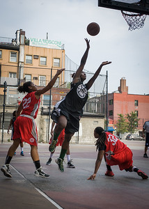 Nijah LaCourt, Anika Rivera, Kellindra Zackery West 4th Street Women's Pro Classic NYC: Big East Ballers (Red) 77 v Down The Hatch (Black) 61, William F. Passannante Ballfield, New York, NY, July 7, 2012