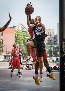 Meghan Mahoney, Korrine Campbell West 4th Street Women's Pro Classic NYC: Big East Ballers (Red) 77 v Down The Hatch (Black) 61, William F. Passannante Ballfield, New York, NY, July 7, 2012
