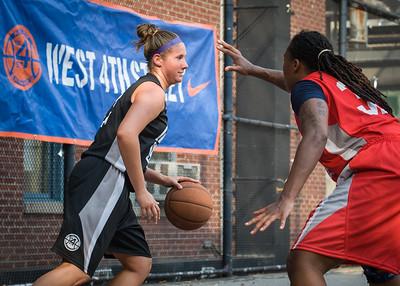 Kerri White, Kellindra Zackery West 4th Street Women's Pro Classic NYC: Big East Ballers (Red) 77 v Down The Hatch (Black) 61, William F. Passannante Ballfield, New York, NY, July 7, 2012