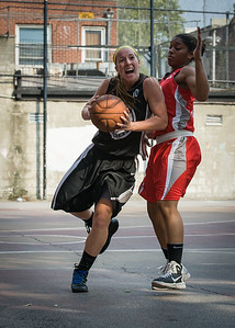 Candice Bellochio, Anika Rivera West 4th Street Women's Pro Classic NYC: Big East Ballers (Red) 77 v Down The Hatch (Black) 61, William F. Passannante Ballfield, New York, NY, July 7, 2012