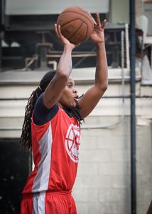 Kellindra Zackery West 4th Street Women's Pro Classic NYC: Big East Ballers (Red) 77 v Down The Hatch (Black) 61, William F. Passannante Ballfield, New York, NY, July 7, 2012