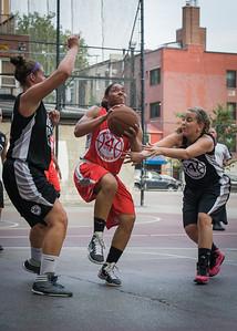 Anika Rivera, Kerri White, Christine Harnischfeger West 4th Street Women's Pro Classic NYC: Big East Ballers (Red) 77 v Down The Hatch (Black) 61, William F. Passannante Ballfield, New York, NY, July 7, 2012